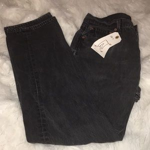 36/32 Levi's 501 Black Jeans A6
